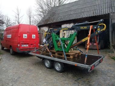 Hydraulická ruka za traktor