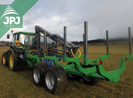 Profesionální vyvážecí vlek FARMA CT 8,5-12G2 pro traktor John Deere