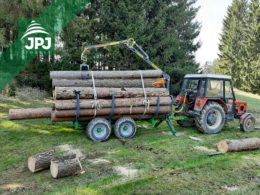 vyvážečka dřeva Farma s nosností 6 tun