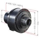 Hlavní rozměry hydraulického motoru Black Bruin série S bez brzdy