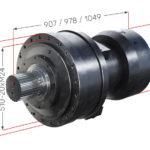 Hlavní rozměry hydraulického pohonu Black Bruin série S